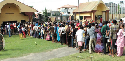 Image result for lagosians on a long queue