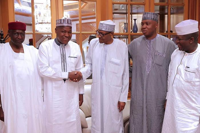 Image result for Osinbajo, Saraki, others bid Buhari farewell