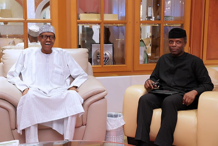 PHOTOS: Buhari meets Osinbajo, Saraki, others before London trip