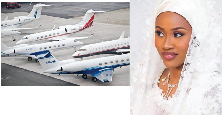 Image result for Some of the private jets in Minna for IBB daughter's wedding