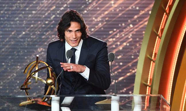 Edinson Cavani Wins Ligue 1 Player Of The Year Award