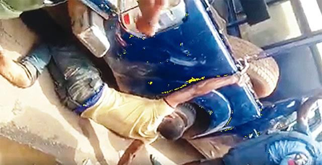 Man handcuffed to police van recounts ordeal