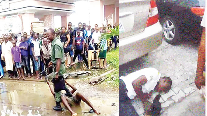 Military men brutalise Lagos residents