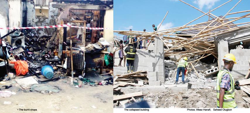 Fire kills couple, three kids in Lagos shop