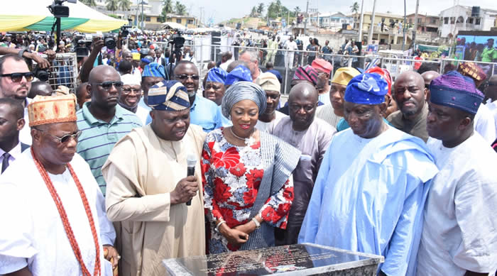 Image result for Ambode inaugurates roads in Epe