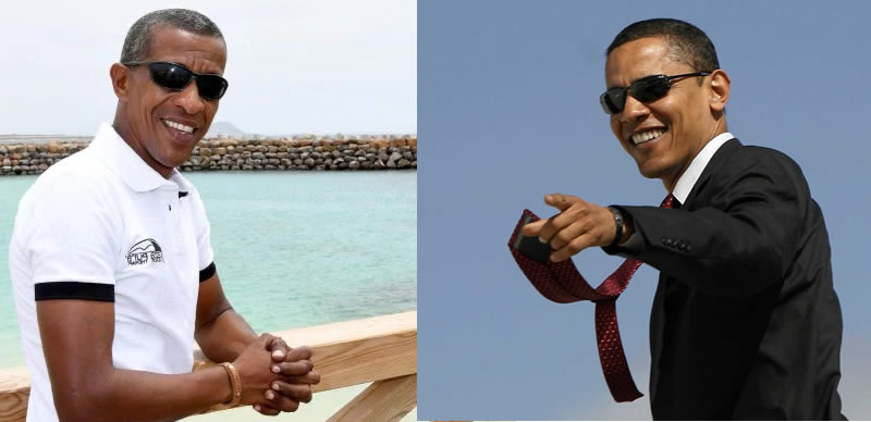 Obama seems to have become a tour guide in Cape Verde!