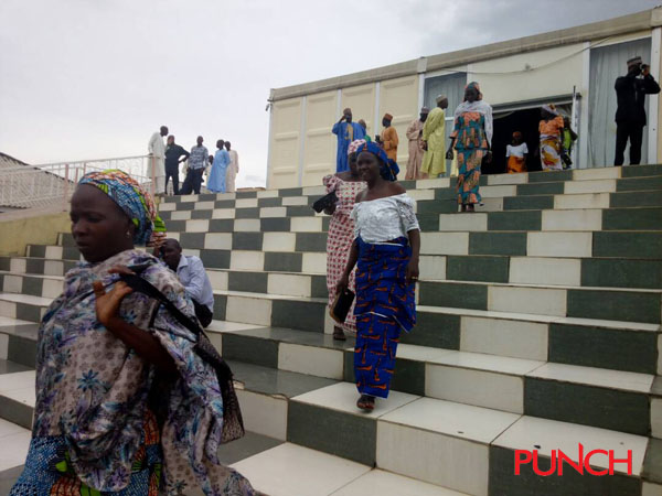 BREAKING: (Photos) Released Chibok girls' parents arrive in Abuja