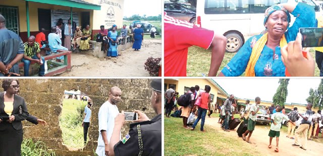 Image result for Officers of the Nigeria Police have Friday rescued the six school students who were kidnapped Lagos State Model College, Igbonla, Epe, Lagos State.
