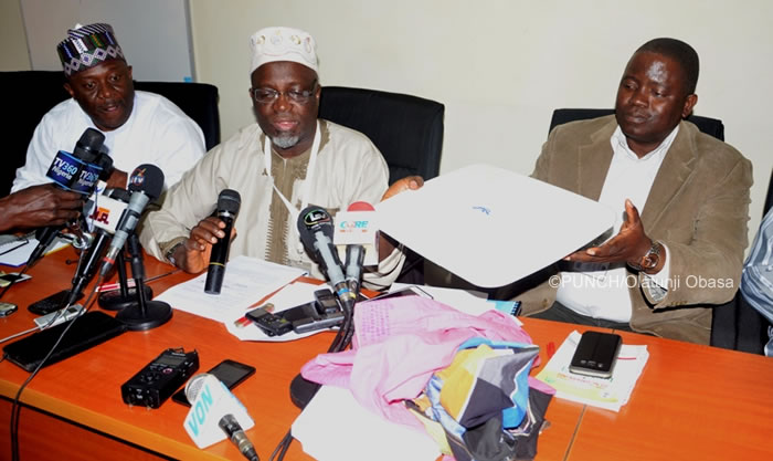 PHOTOS: JAMB displays examination fraud evidence