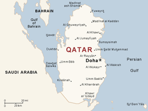 Gulf States Egypt Cut Ties With Qatar World News Online - Map of qatar and egypt