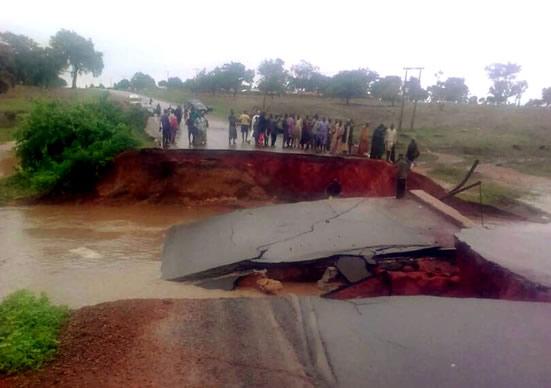Image result for collapsed Michika bridge