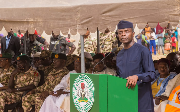 PHOTOS: Osinbajo visits Borno