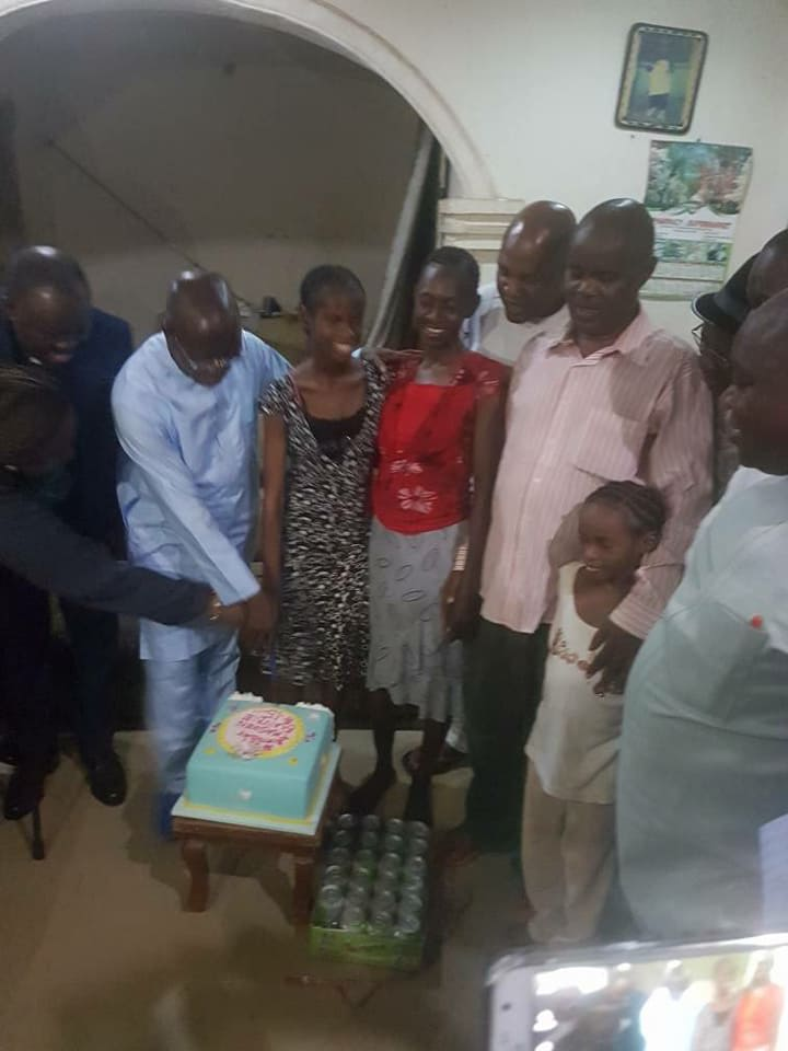 Oshiomhole throws surprise birthday party for visually impaired 'daugther'