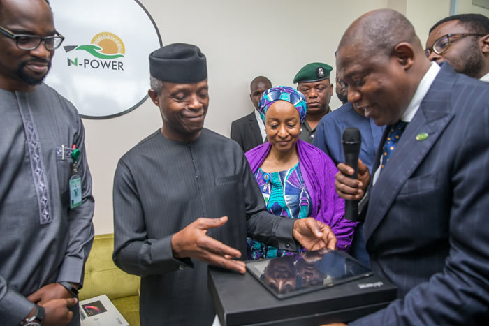 PHOTOS: Osinbajo visits N-Power Response Center in Abuja