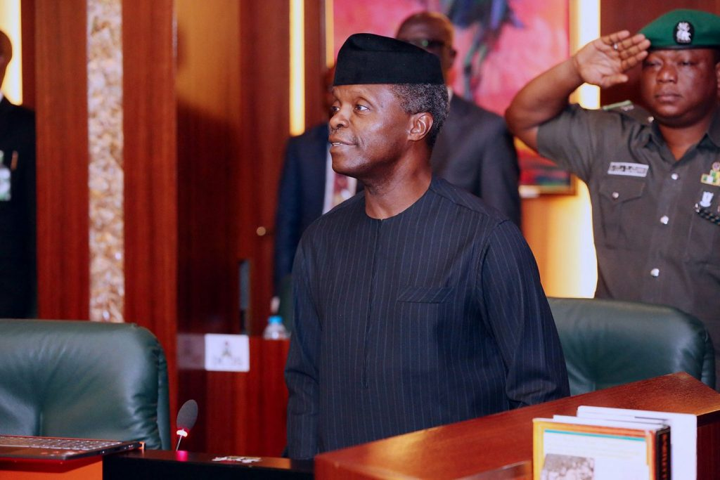 Image result for Osinbajo inaugurates new ministers, tasks them on national development