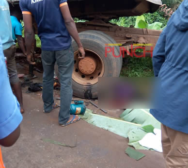 Image result for Truck crushes three to death in Ogun