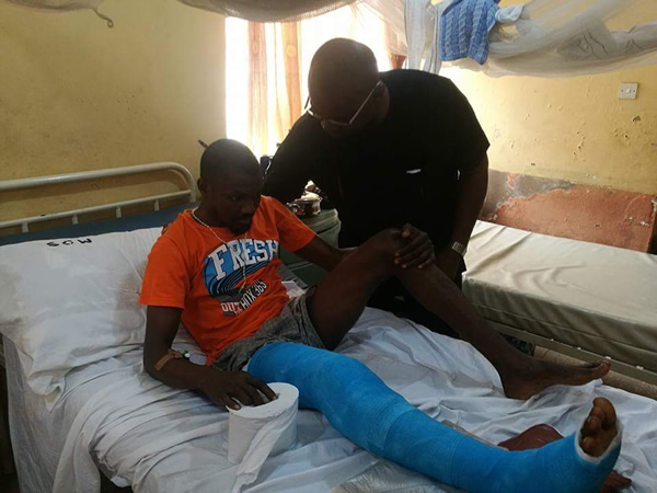 PHOTOS: Aloysius-Ikegwuonu, aka Bishop, visits victims of Ozubulu Church attack