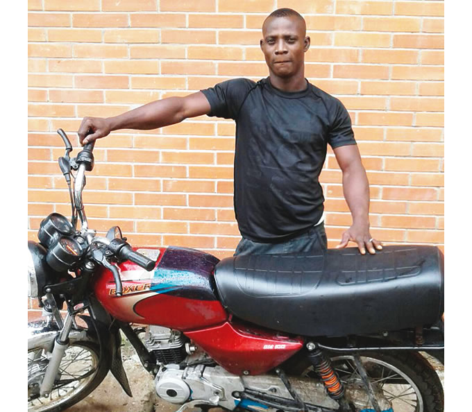 Image result for Lagos task force official steals impounded motorcycle