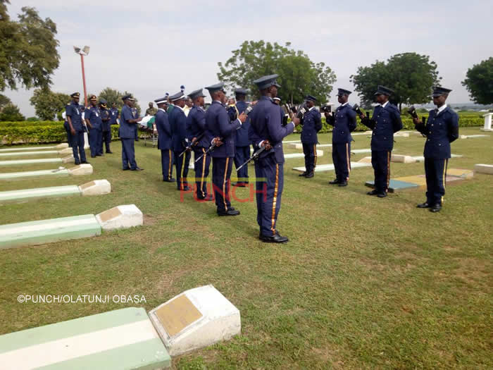 PHOTOS: NAF instructor pilot, Adanu Ochai, buried in Abuja