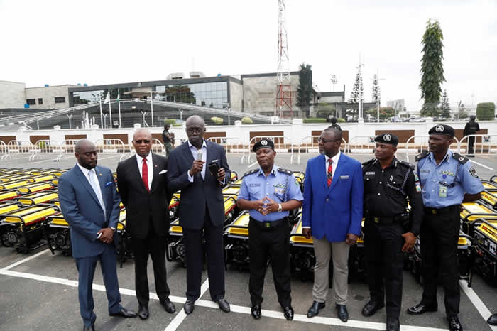 PHOTOS: Ambode donates 120 power generating sets to Lagos police command