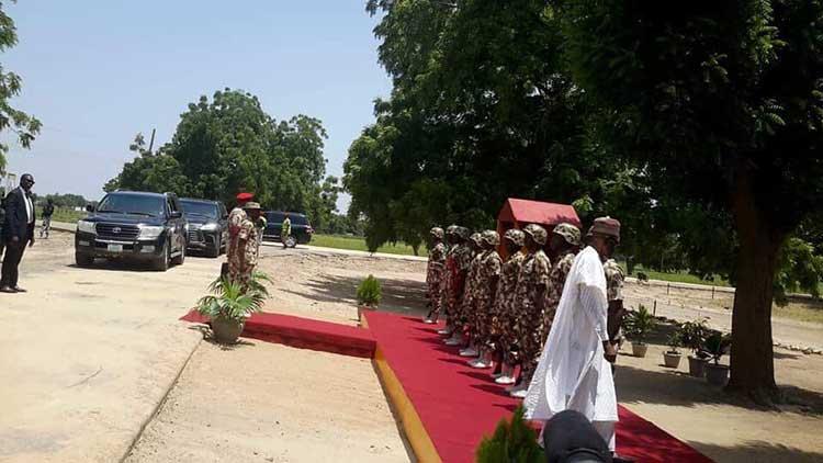 Nigeria @57: Buhari arrives Maiduguri to celebrate with troops