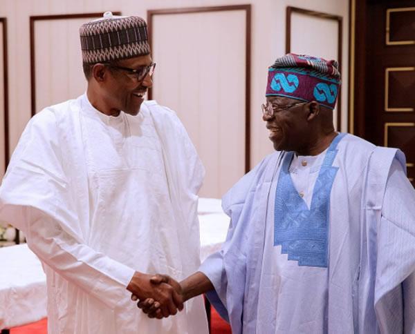 PHOTOS: Buhari receives Tinubu in Aso Rock