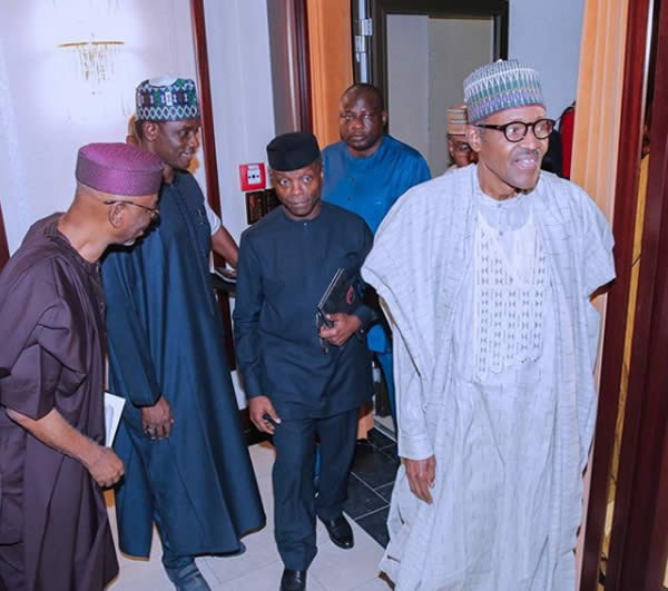 PHOTOS: Buhari presides over APC national caucus meeting