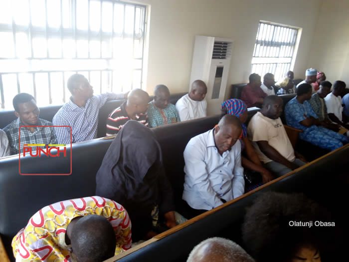 PHOTOS: EFCC arraigns suspected payroll fraudsters in Abuja