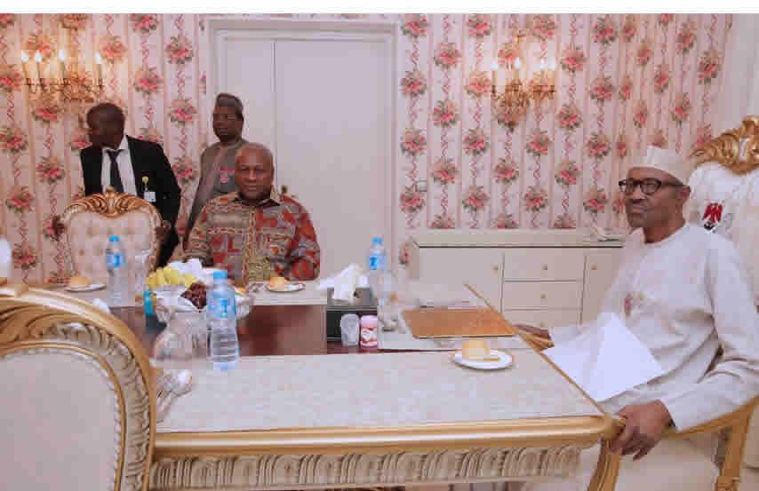 PHOTOS: Buhari hosts former Ghanaian president, John Mahama