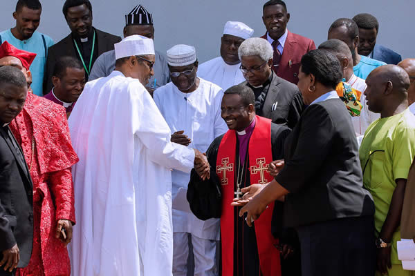 PHOTOS: Buhari, Christian leaders meet inside Aso Rock