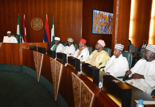[PHOTOS] President Buhari meets Muslim leaders in State House