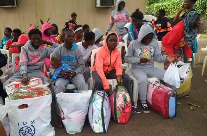 PHOTOS: Nigerians deported from Libya arrive in Benin