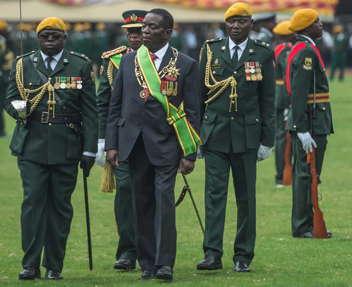 PHOTOS: Mnangagwa sworn in as Zimbabwe's new president