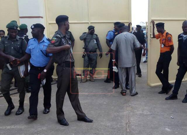 PHOTOS: Tight security in Sagamu as Akarigbo is installed