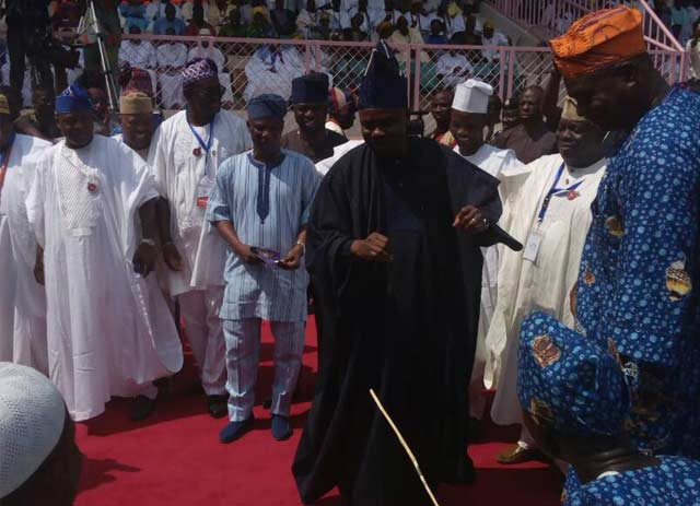 (UPDATED) Akarigbo installation: Ooni of Ife, Amosun, arrive venue