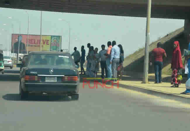 [PHOTOS] As fuel scarcity bites harder, commuters struggle for few available vehicles
