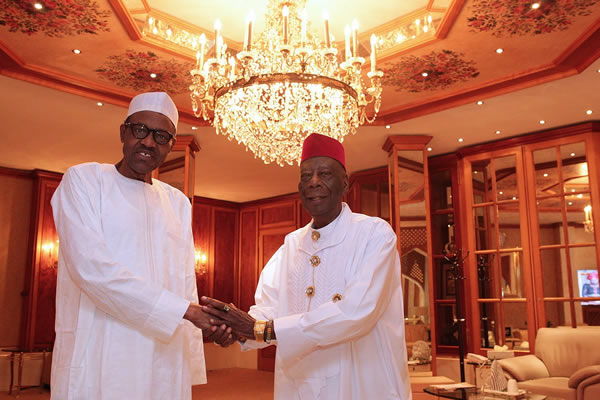 Buhari meets Ogoni leaders1