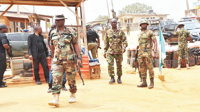 Soldiers arrest six for alleged diversion, sale of petrol in Kaduna