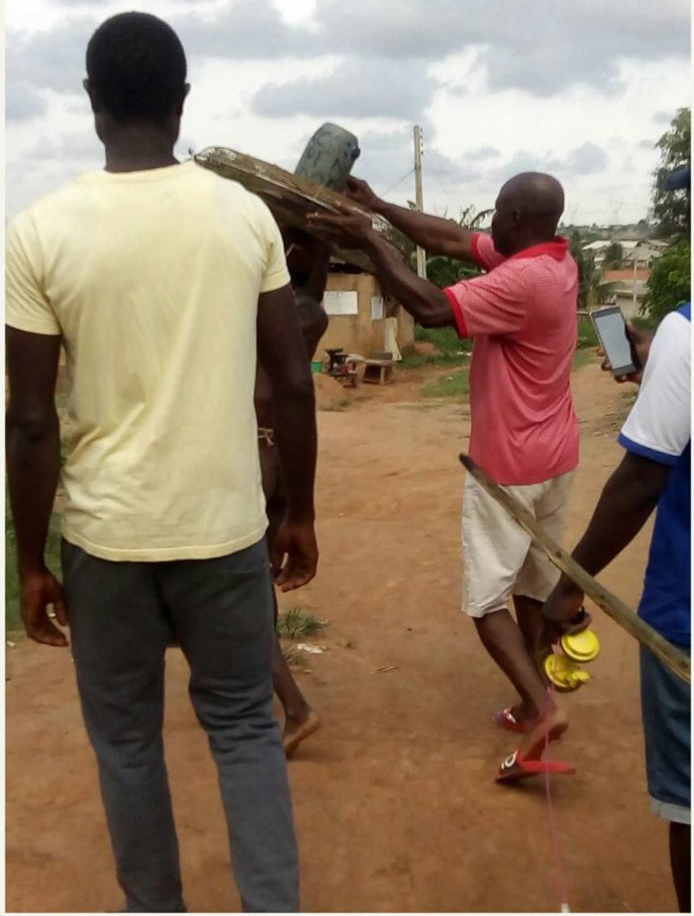 Man beaten, paraded naked for stealing fan from church