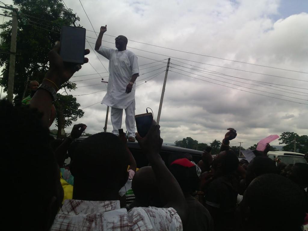 BREAKING: Supporters of Dino Melaye, Kogi gov in gun battle, one shot