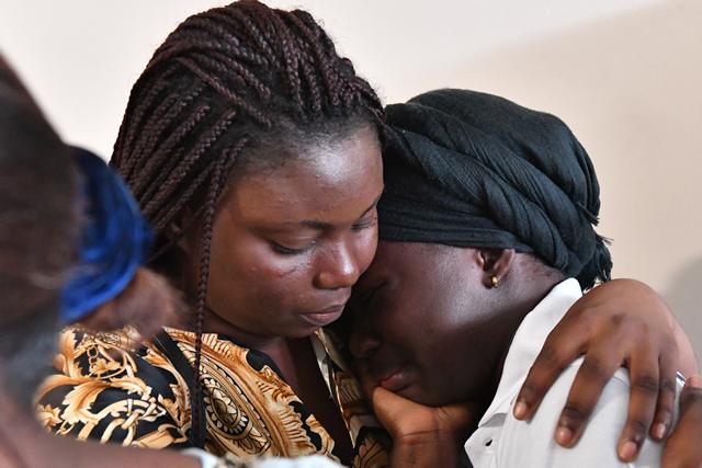 PHOTOS: Tears, pain as Tiote's body arrive Ivory Coast