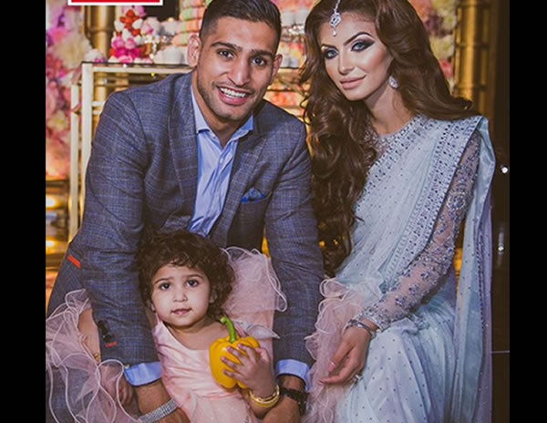 The Amir Khan family when the going was good. Hello