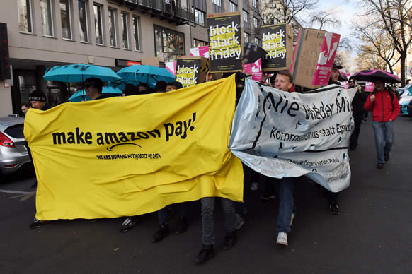 amazon workers in germany italy hold black friday strike punch newspapers. Black Bedroom Furniture Sets. Home Design Ideas