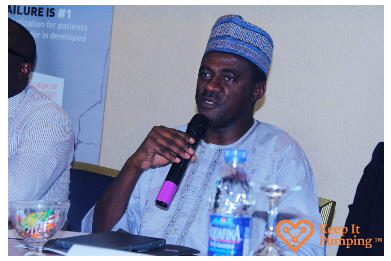 Consultant Cardiologist, Aminu Kano Teaching Hospital (AKTH), Prof. Kamilu Karaye, discussing heart failure and its effect on the economy during a Heart Failure awareness event.
