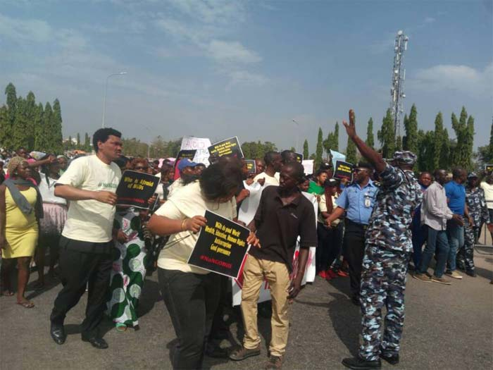 Protesters storm NASS over NGO bill