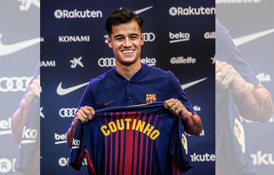 Coutinho starts on bench for Barcelona